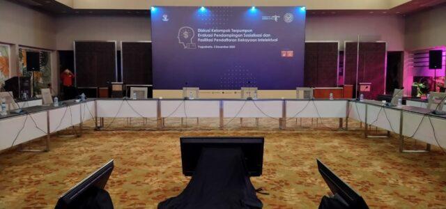 Pasang Backdrop untuk Support Event Kemenparekraf di Jogja