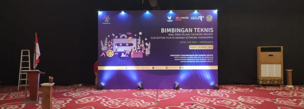 Backdrop Event Bimbingan Teknis Pelaku Kreatif Jogja